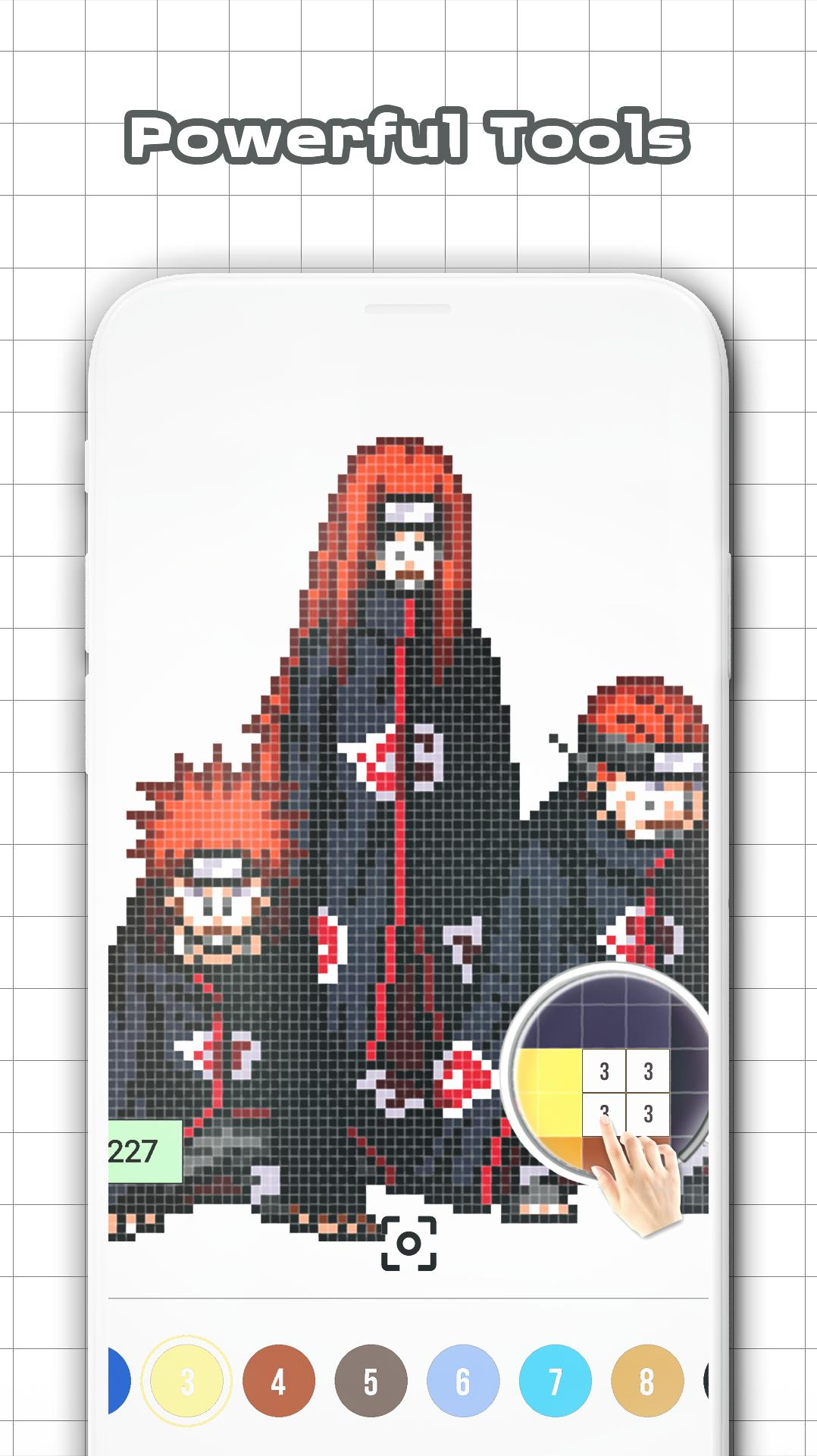 Naruto Color By Number Pixel Art For Android Apk Download