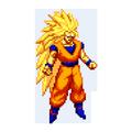 Color by Number - Super Saiyan Sandbox Pixel