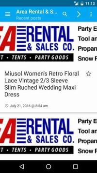 Area Rental & Sales poster