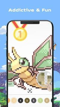 Color by Number - Pokees screenshot 15