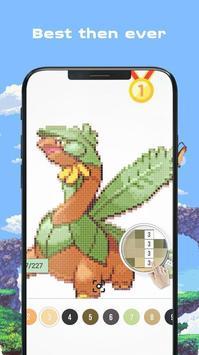 Color by Number - Pokees screenshot 16