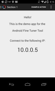 Android Fine Tuner - Demo App poster