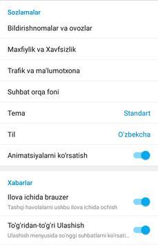 Ўзбек Телеграми (Норасмий) скриншот 4