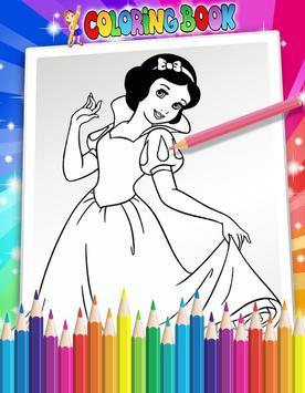 How To Color Disney Princess screenshot 3