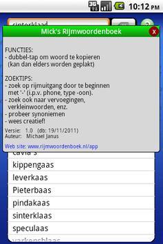 Mick's Rijm Woordenboek - Lite apk screenshot