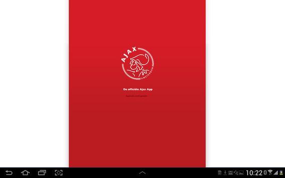 Officiële AFC Ajax tablet app poster