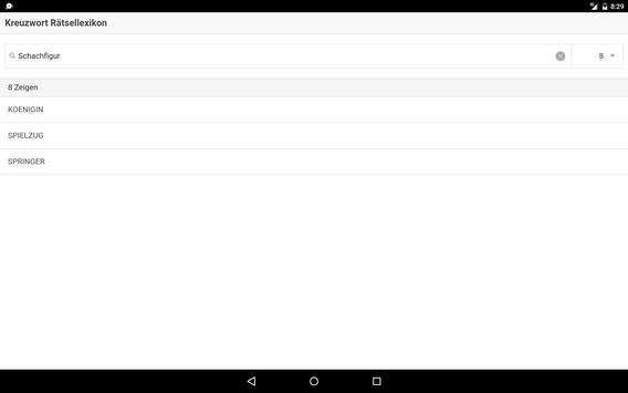 Kreuzwort Rätsellexikon apk screenshot
