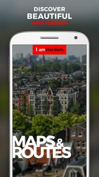 I amsterdam Maps & Routes poster
