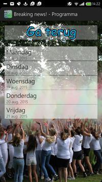 Breaking news - Jeugdweek 2015 apk screenshot