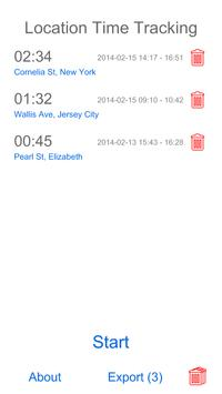 Location Time Tracking screenshot 1