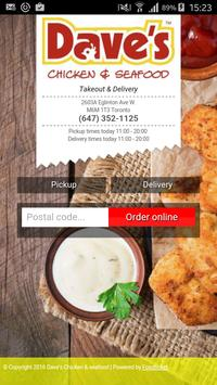 Dave's Chicken & Seafood poster