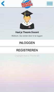 Haal je Theorie Docent poster