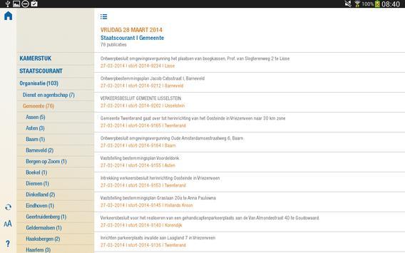 Officiële Bekendmakingen screenshot 9