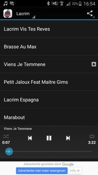 Ecoutez LACRIM apk screenshot