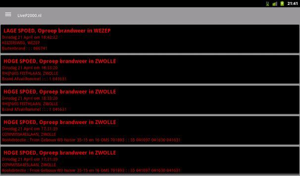 LiveP2000.nl screenshot 7