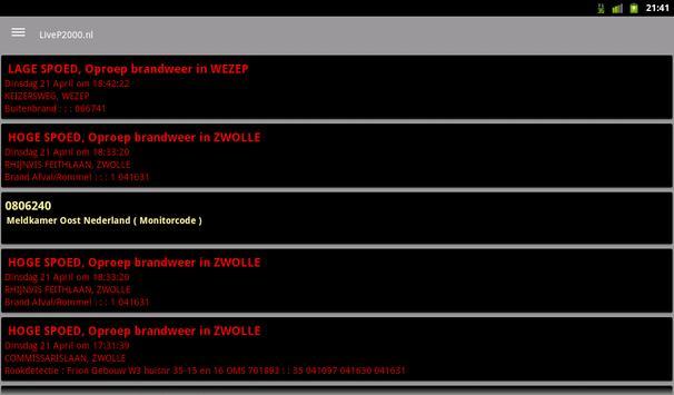 LiveP2000.nl screenshot 8