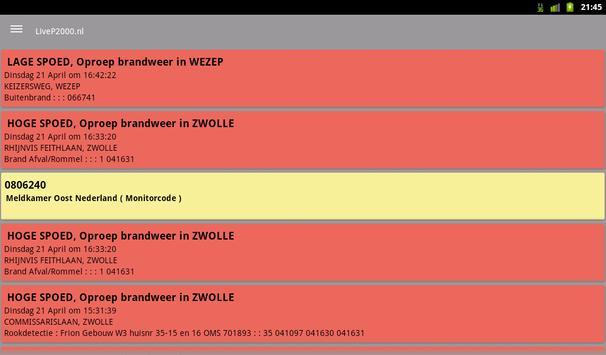 LiveP2000.nl screenshot 11