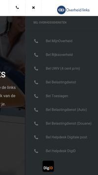 Overheid Links apk screenshot