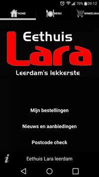 Eethuis Lara Leerdam poster