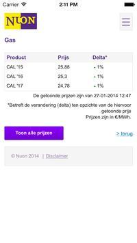 Energieprijzen screenshot 4