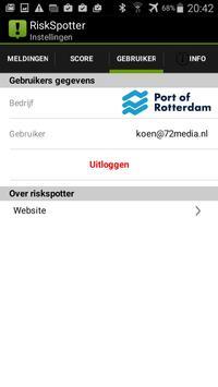 Riskspotter apk screenshot