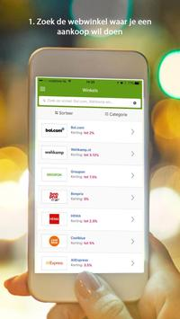 Shopkorting - cashback korting APK-screenhot