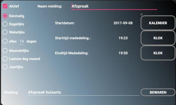 Alzheimerklok screenshot 7