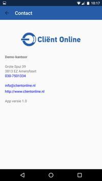 Cliënt Online apk screenshot