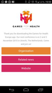 Games for Health poster