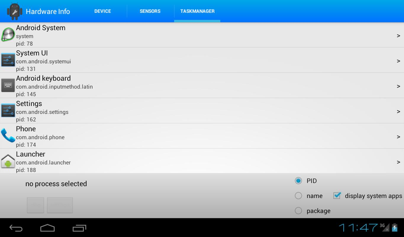 android hardware info apk