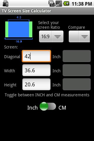 Tv Size Calculator >> Tv Screen Size Calculator For Android Apk Download