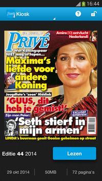 Privé magazine poster