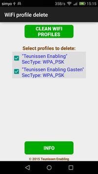 WiFi profile delete poster