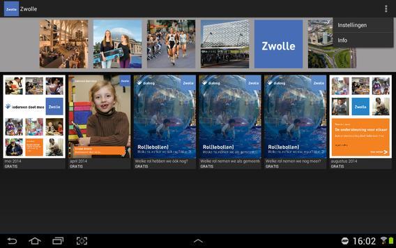 Zwolle kiosk voor tablet poster