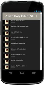 NLT Audio Bible Free App poster