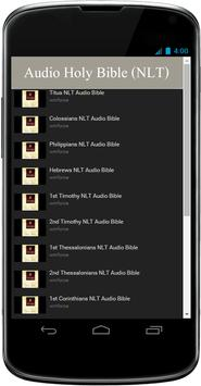 NLT Audio Bible Free App screenshot 1