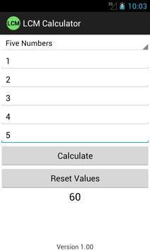 Calculate lcm, hcf, gcd of numbers online.