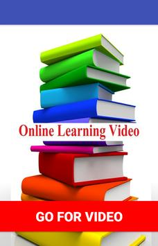 Online Learning Video poster