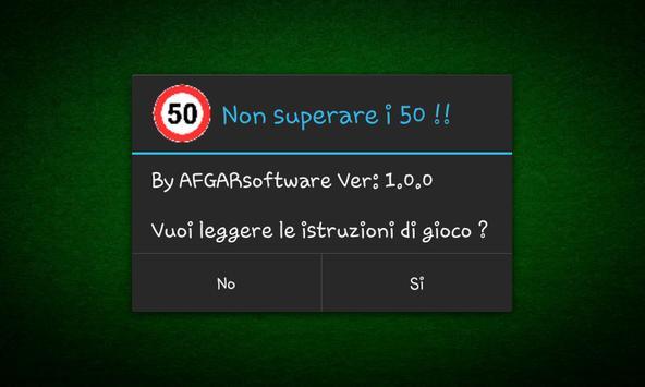 Non superare i 50 !! Free screenshot 1
