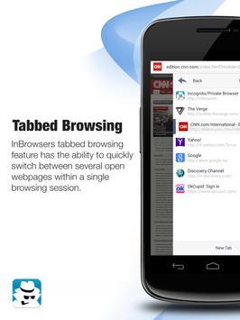InBrowser - Incognito Browsing apk screenshot