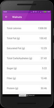Calorie, Carb & Fat Lookup apk screenshot