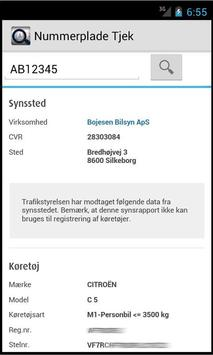 Nummerplade Tjek apk screenshot