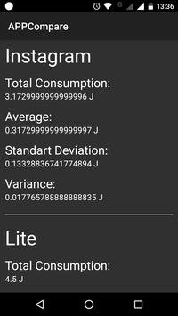 AppCompare: An App for Performance Evaluation screenshot 1