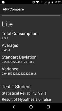 AppCompare: An App for Performance Evaluation screenshot 2