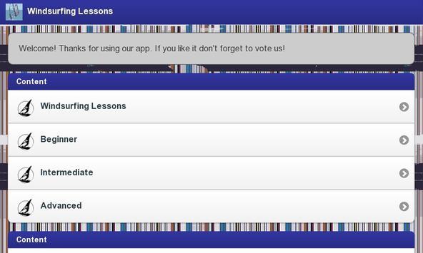 Windsurfing Lessons screenshot 1