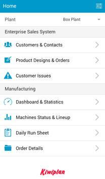 Kiwiplan Mobile App poster