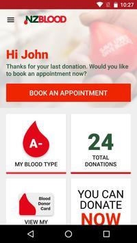 NZ Blood Service Donor App apk screenshot