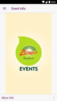 Zespri Events poster