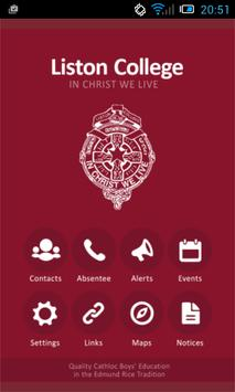 Liston College poster