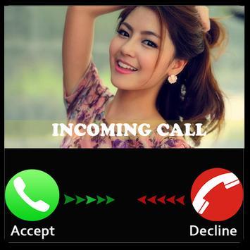Prank beatiful girl call poster